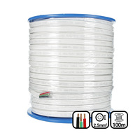 2.5mm Twin & Earth Flat Cable | Pvc / Pvc 100mtrs