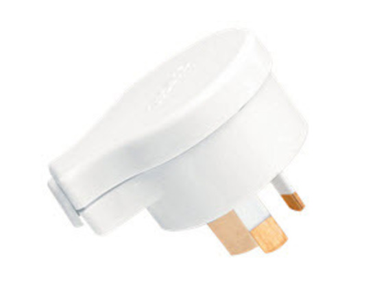 CLIPSAL 418S15 | Side Entry 3 Pin 15Amp Plug Top (White) 418S15WE main image