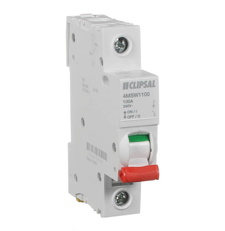 CLIPSAL 4MSW1100 | Main Switch single pole 100 amp | Max 4 main image