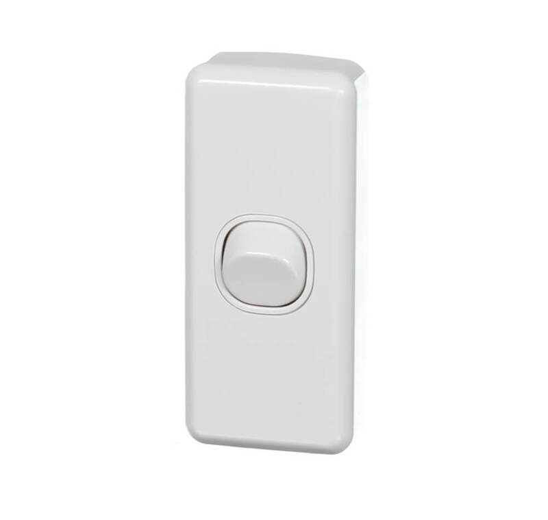 Clipsal Classic C2030-WE | 1 Gang Architrave switch 10 Amp White  main image