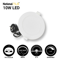NLS 20111 | 10W Tri Colour LED Dimmable White Downlight 850-950lm