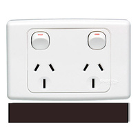 CLIPSAL 2025BR |Double Power Point GPO 10Amp 250v Brown (2000 Series)
