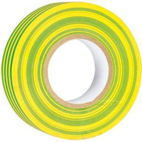 25YG Electrical Tape Yellow/Green | 20m 10 Pack