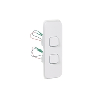 Clipsal Iconic 3042ALVW | Switch 2 Gang ARCHITRAVE 10Amp 250v Vivid White 3042ALVW