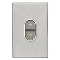 CLIPSAL SATURN 4061/45HS | Stove Isolator 45Amp (Horizon Silver) 4061/45