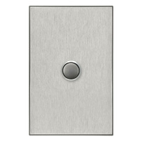 CLIPSAL SATURN 4061PBLHS | 1 Gang Pushbutton LED Switch (Horizon Silver) 4061PBL