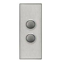 CLIPSAL SATURN 4062ALHS | 2 Gang Pushbutton LED Architrave Switch (Horizon Silver) 4062AL