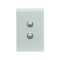 CLIPSAL SATURN 4062VHOM |2 Gang 60 Series Grid And Surround (Ocean Mist) 4062VH