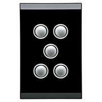 CLIPSAL SATURN 4065VHEB |5 Gang 60 Series Grid And Surround (Espresso Black) 4065VH