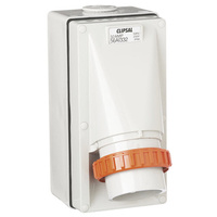 CLIPSAL 56AI332 | Appliance Inlet 3 Round Pin 32Amp IP66 Rated (Grey) 56 SERIES