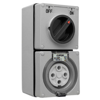 CLIPSAL 56C440 | 4 Pin 40Amp Combination Switched Socket 56 Series