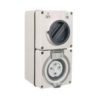 NLS 66CV410 | 4 Pin 10Amp Combination Switched Socket IP66 Rated CO3PH410