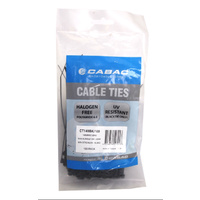 Cabac Cable Ties CT140BK-100 | 140mm x 3.6 mm nylon Black (100) Pack