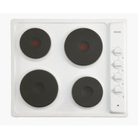 Euro EPZ4EEWH | 60cm Electric Cooktop White