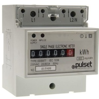 KW Hour Meter Single Phase 80amp | KWH/1