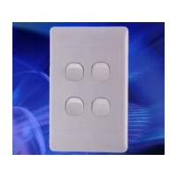 4 Gang 16Amp 250v White Switch (SL Series) | SLSW4V