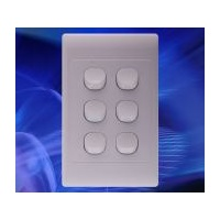 6 Gang 16Amp 250v White Switch (SL Series) | SLSW6V
