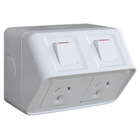 HAGER WBWP2S | Double Weatherproof Power Point GPO 10amp 250v IP53