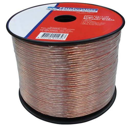 Cable Speaker 2 x 48/0.19mm 100 mtr Roll | 04MM-SPK15-100