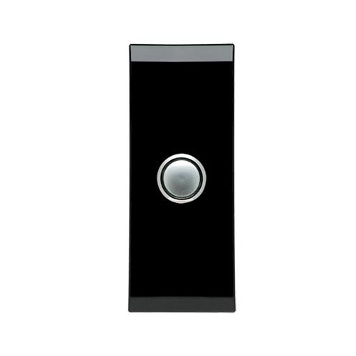 CLIPSAL SATURN 4061ALEB | 1 Gang Pushbutton LED Architrave Switch (Espresso Black)  main image