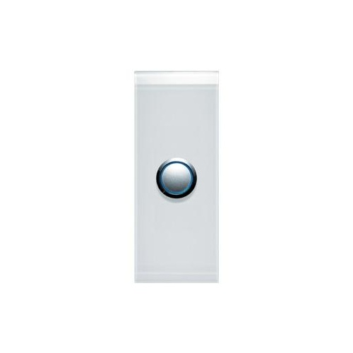 CLIPSAL SATURN 4061ALPW | 1 Gang Pushbutton LED Architrave Switch (Pure White) main image