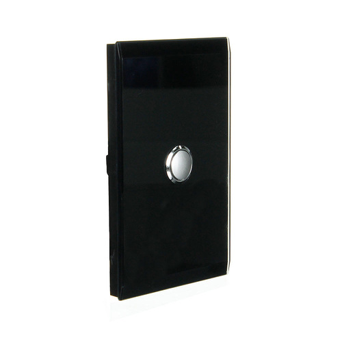 CLIPSAL SATURN 4061PBLEB |1 Gang Pushbutton LED Switch (Espresso Black) main image