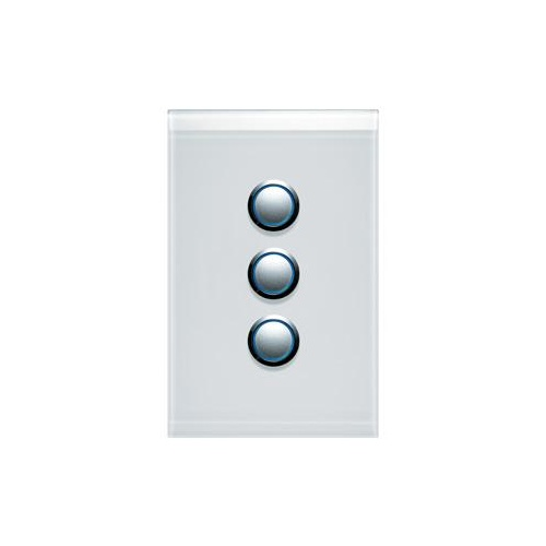 CLIPSAL SATURN 4063VHPW | 3 Gang 60 Series Grid And Surround (Pure White) 4063VH