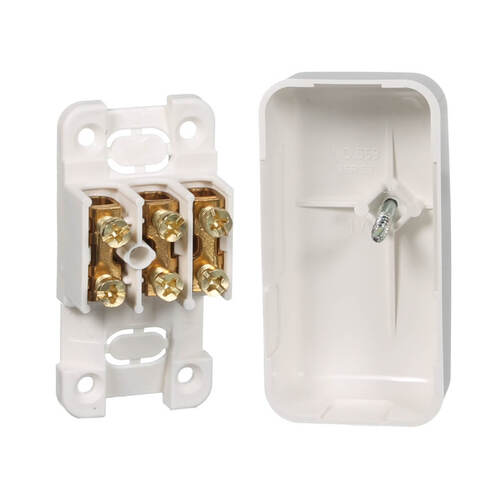CLIPSAL 3 terminal Mini Junction Box with Electrical Connectors | 559/3WE main image