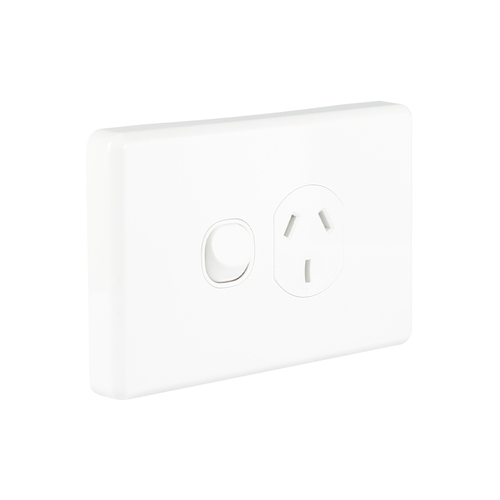 Clipsal Classic C2015-WE | 10 amp Single Power Point | White main image