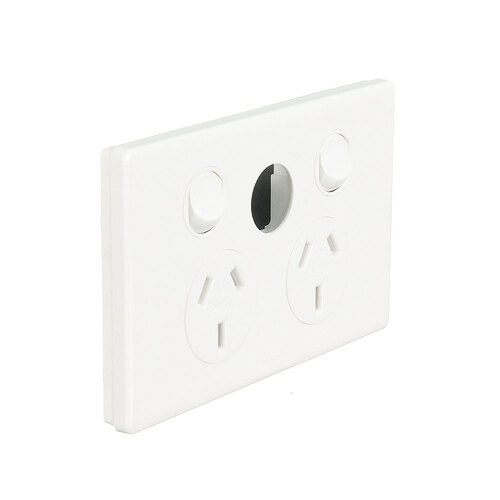 Legrand ED777XWE | Dedicated Plate Double Power Point 10Amp Unloaded Extra Switch Excel Life