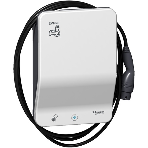 EVB1A22PCRI | EVlink Smart Wallbox - 22 kW - T2 attached cable - charging station - RFID | Schneider Electric main image