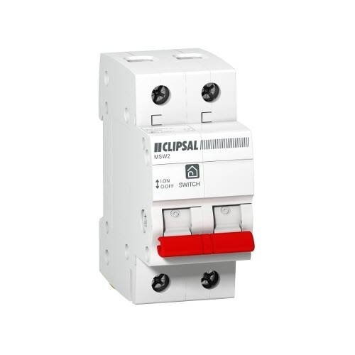 CLIPSAL MSW280 | Main Switch Double pole 80 amp 10kA