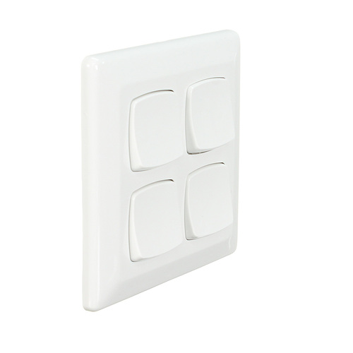 Clipsal P2034/2VA | 4 Gang Switch 10Amp 250v White (P2000 Series)