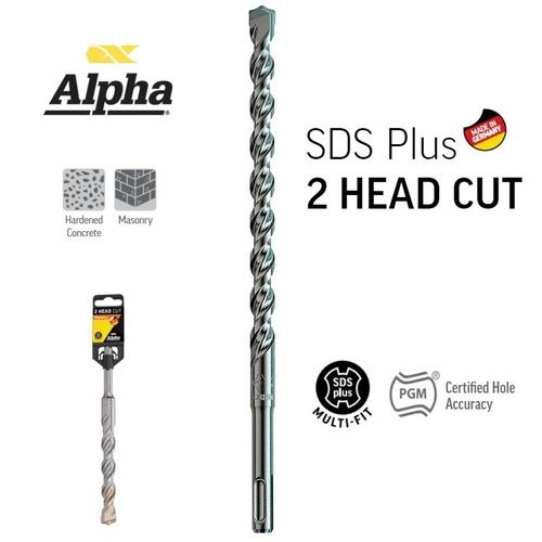 8.0 x 210mm SDS Plus German 2 Cutter Masonry Drill Bit