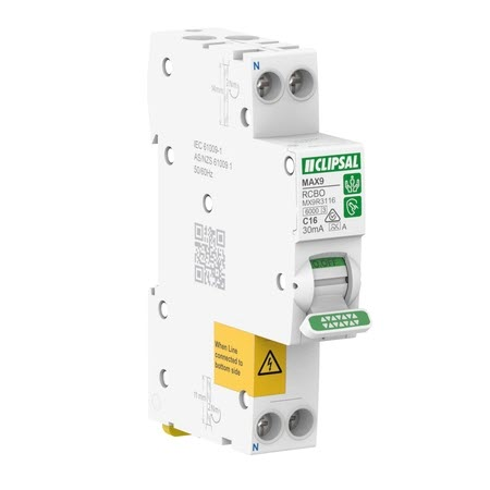 Clipsal Single Pole MCB/RCD | Safety Switches