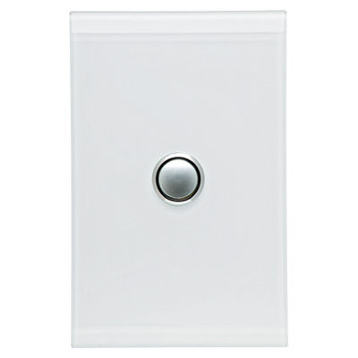 Clipsal Saturn Pure White Light Switches including Mechanisms